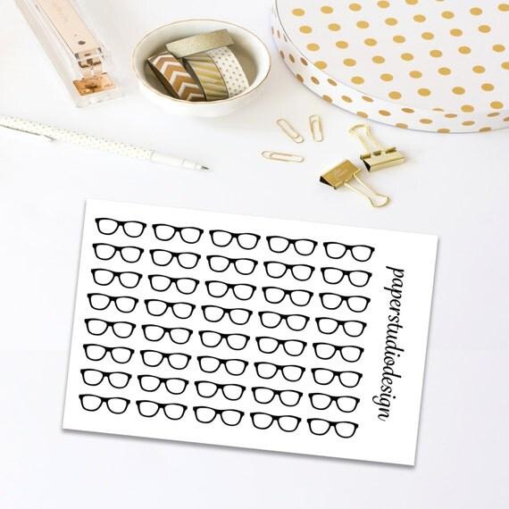 Nerd Glasses Stickers, Planner Stickers, Glasses Stickers, Planner Decor, Decorating Stickers, Stickers For Planner