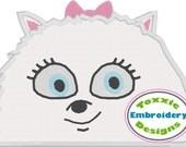 Secret Life of Pets Peeker - Gidget - Machine Embroidery Design