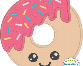 Sprinkle Donut Applique - 5x7 and 4x4 Hoop - Machine Embroidery