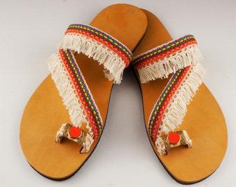 "Greek leather sandals ""Elena"", boho sandals,women's sandals, summer shoes"