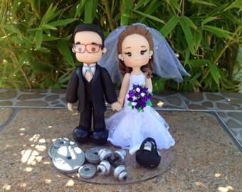 Gym Cake Topper for Wedding, Cold Porcelain wedding topper, personalized topper wedding, cake topper wedding, novios pastel, figuras novios