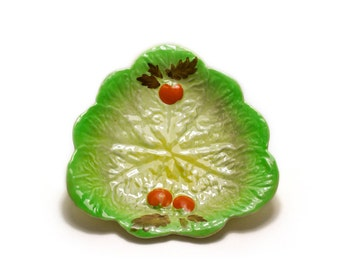 Carlton Ware Salad Ware Green Lettuce And Tomato Dish / Plate Vintage 1950's