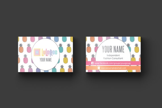 Lularoe business card design compliant by designasaurstore for Etsy lularoe business cards