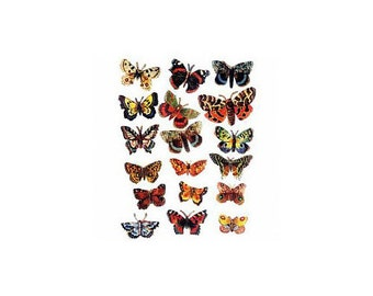 18 pictures butterflies - Chromos images of poetry - 18 butterflies - Butterfly pictures Butterfly - C1516106