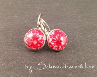 Earrings earrings flower red