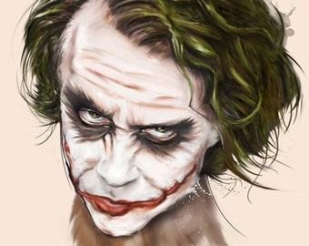 Heath Ledger - The Joker Portrait