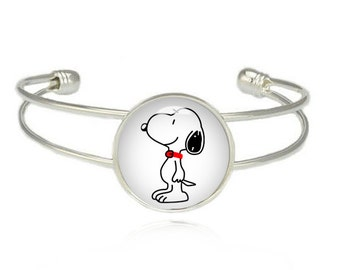 Peanuts Cuff Bangle Bracelet Snoopy Charlie Brown Fandom Jewelry Cosplay Fangirl Fanboy
