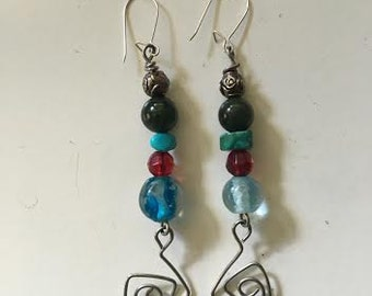 Handmade recycled earrings
