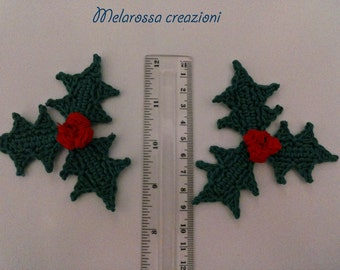 Clover, cotton crochet Christmas ornament Christmas tree, Christmas gift, starched.