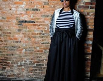 Maxi Length Skirt with Wide Sash