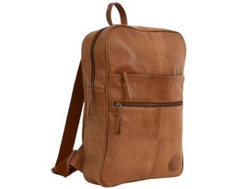Gusti leather 'Amber' genuine leather backpack