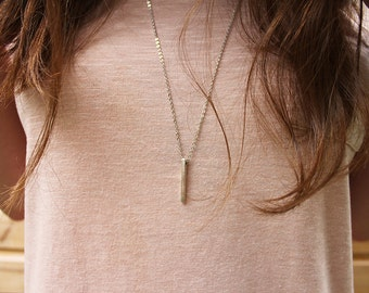 Metal Spike Pendant Necklace. Spike Jewelry.
