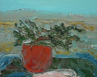 Still Life with a potted plant  2