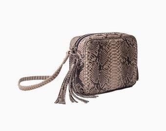 A.TERRERI python skin handbags
