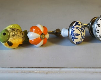 4 Assorted Knobs (Sold as a Set)
