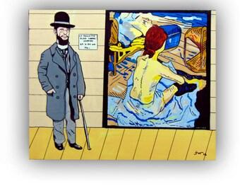 Toulouse Lautrec, acrylic paint by Jotawi