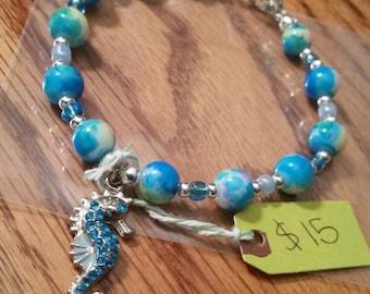 Seahorse charm bracelet..
