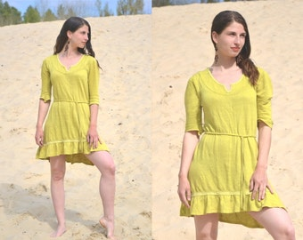 "100% hemp jersey dress ""Thai Sun"""
