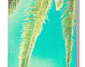 Tropical Palm Wall Decor,Palm Three Art,Plant Print,Colour Photography,Blue and Green,Palm Photo,Tropical Decor,Palm wall Print,Palm Art