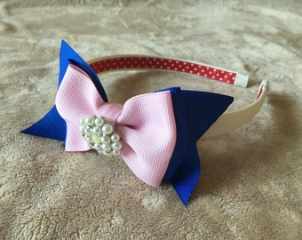 Bow headbands, girls headband, toddler headband, girls hair accessories, toddler hair accessories, flower girl, hard headband