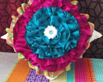 Ribbon Flower Pillow