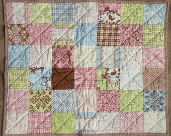 """Handmade Baby Quilt - Lily and Will by Bunny Hill Designs for Moda Fabrics - 25 1/2"""" x 30 1/2"""""""