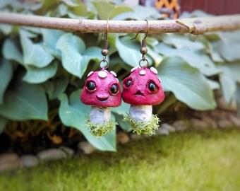 Cute, tiny, happy & sad earrings