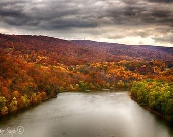 Fall Colors on the Shenandoah River Print, Fall Colors Print, Shenandoah River Print, River Photograph, Fall Colors Photograph, WV