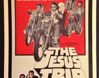 "The Jesus Trip Movie Poster 12""x18"" // Bikers for Christ //"
