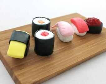 Sushi Soap, 6 Piece Set, Sashimi, nigirizushi, makizushi