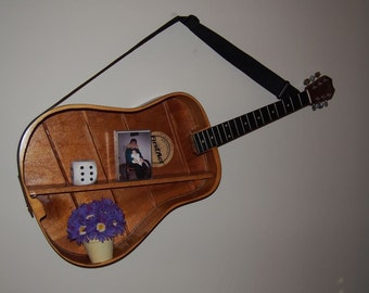 Horizontal guitar shelf. Item shown for example only.