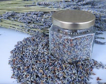 Organic dried culinary lavender, 2016 crop.  High-quality, fragrant French lavender buds for cooking, baking, and experimentation!