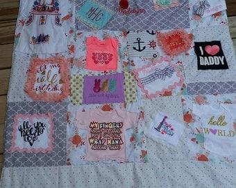 Items Similar To Custom Memory Quilts Made From Your Loved