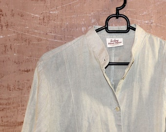 Original vintage Sisley white womens cotton shirt! Italian design!