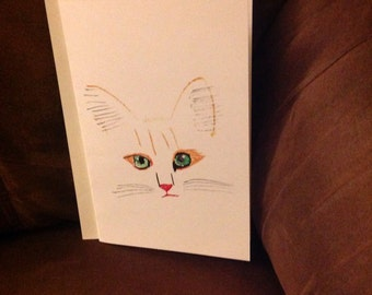 Cat greeting card with envelope