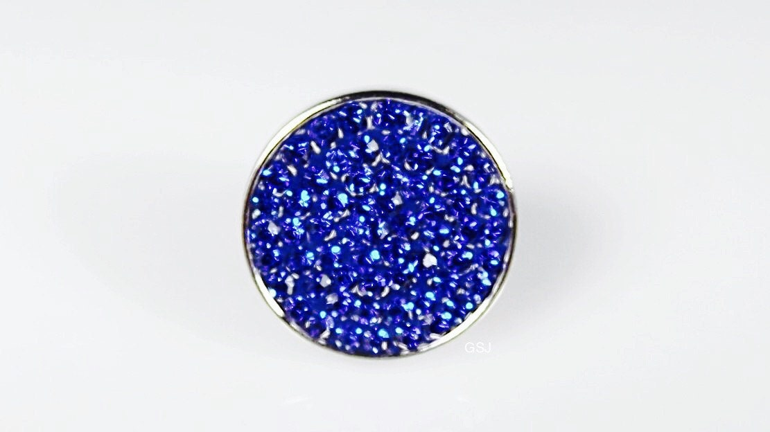 Sapphire sugar Snap charmssnap jewelry compatible with