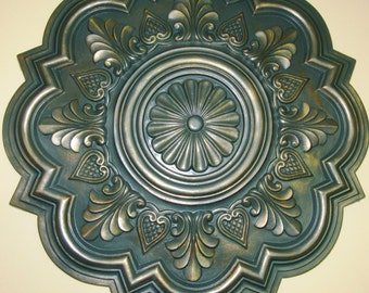 """Antiqued Ceiling or Wall Medallion, 20"""" Ceiling Medallion, Ornate Medallion, ceiling medallion"""