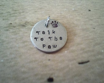 Hand stamped pet tag