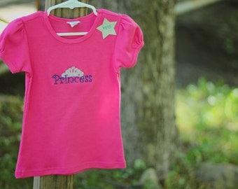 """Custom Embroidered """"Princess"""" shirt"""