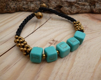 Turquoise Braided Howlite Stone Bracelet_GDE.0412150083587_Fashion accessories_Gift iDEAS