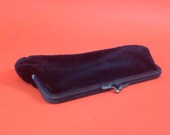 Vintage 1920s style black velvet bag