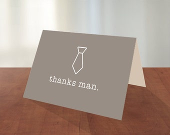 Groomsmen Thank You | Groom | Thank You | Tie | Suit Up | Thank You | Card | Wedding | Marriage