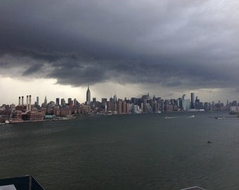 Storm rolling in - NYC skyline