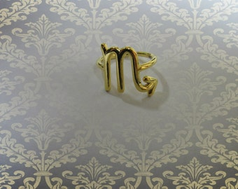 Zodiac Jewelry- Zodiac Sign- Zodiac Ring- Scorpio Jewelry- Scorpio Ring- Horoscope Ring- Astrology Jewelry