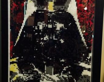Darth Vader Perler Bead Art