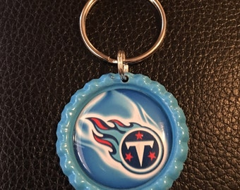 NFL Tennessee Titans Bottle Cap Keychains
