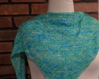 Falling Sea Stars Pattern - Knit Shawl - Neck - Torso - Fingering Weight - Sock Weight - Textured