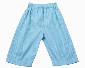 Turquoise Gingham Boy's Pant