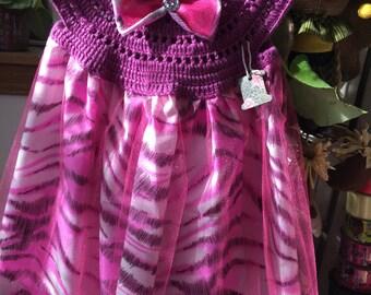 Hand Knited 100% Cotton Toddler Girl Dresses