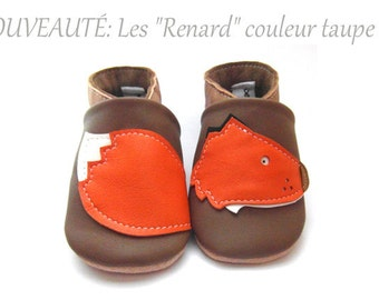 shoe leather soft Fox from 3-18 months